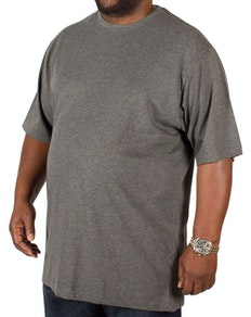 Bigdude Plain Crew Neck T-Shirt Charcoal Tall
