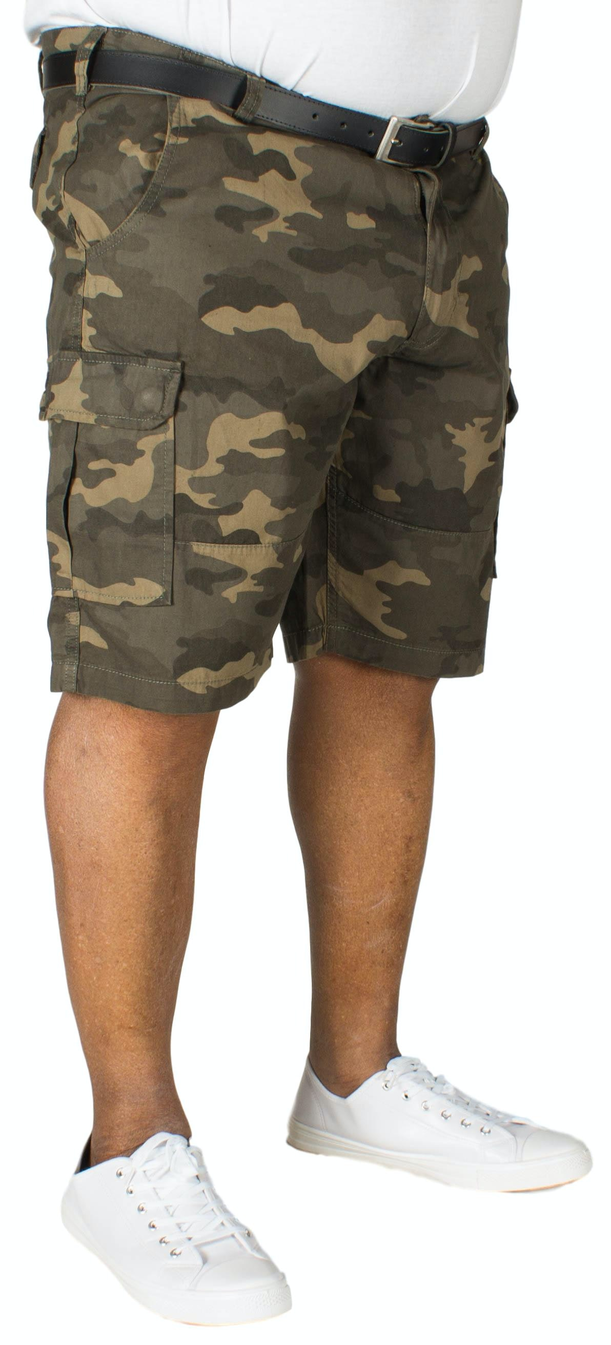 D555 Marty Camouflage Cargo Shorts Green
