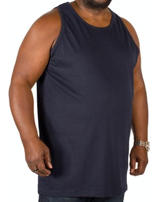 Bigdude Plain Vest Navy Tall