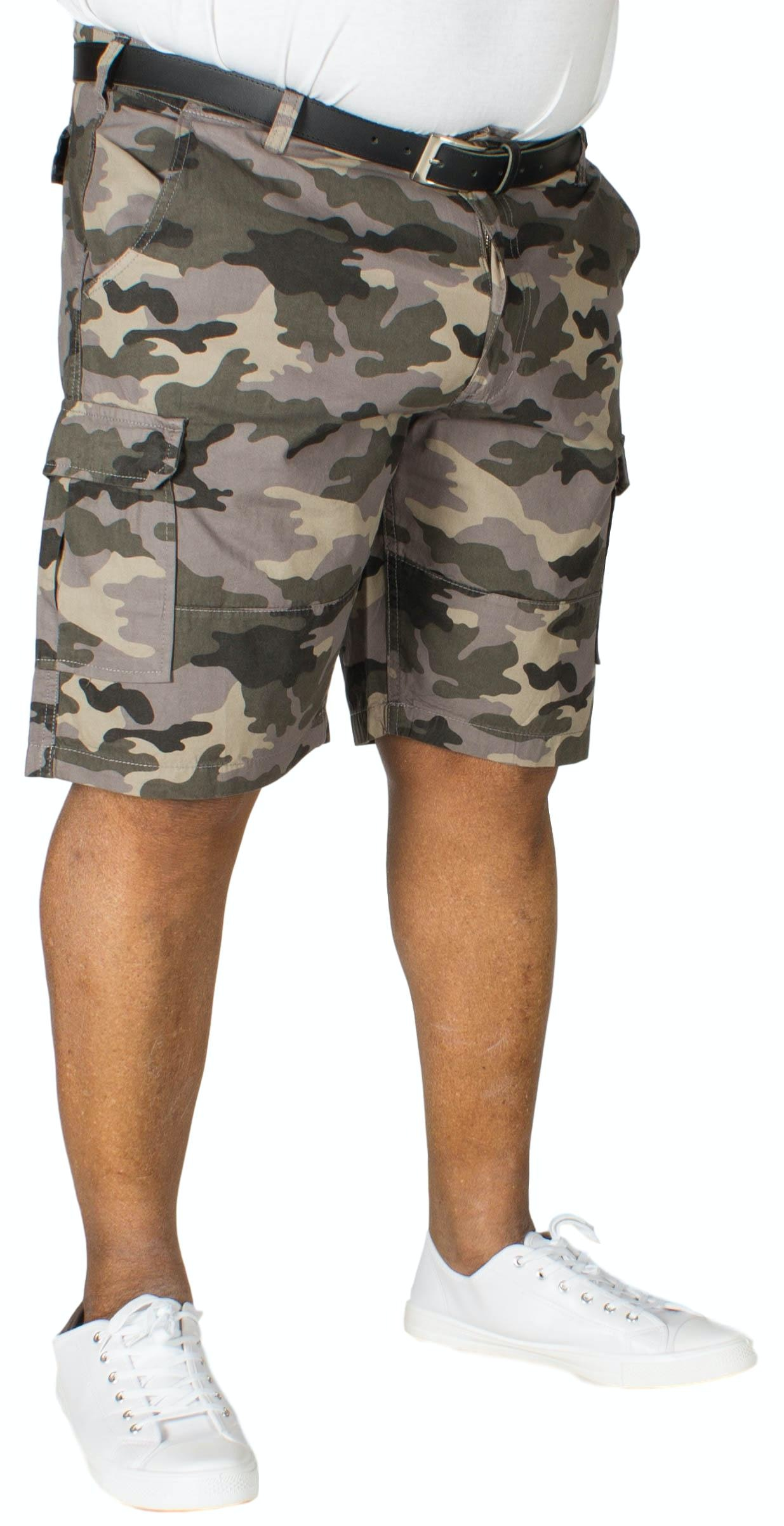 D555 Marty Camouflage Cargo Shorts Grey