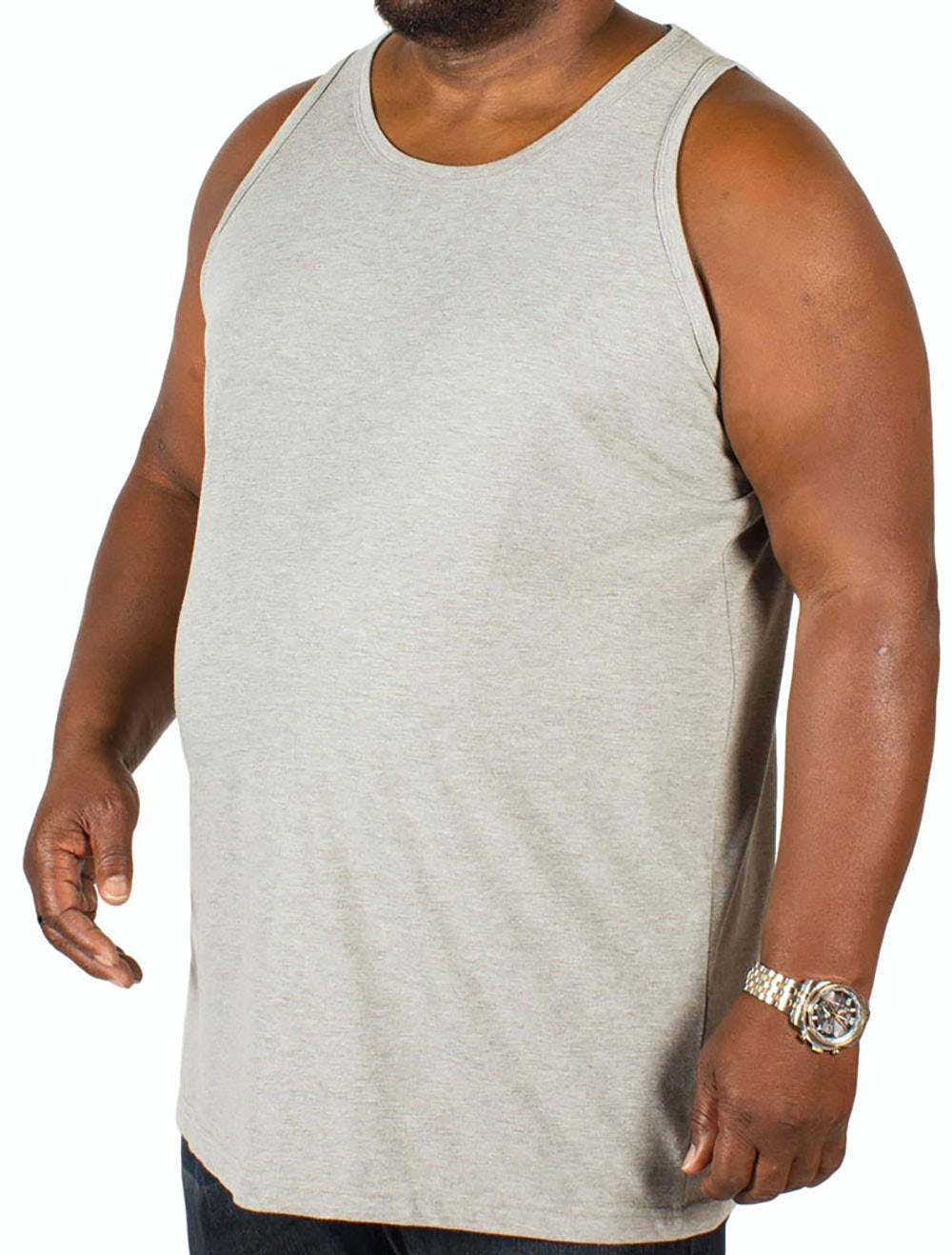 Bigdude Plain Vest Grey