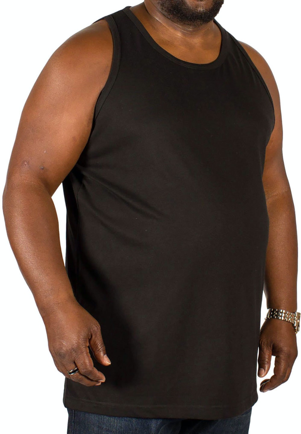 Bigdude Plain Vest Black