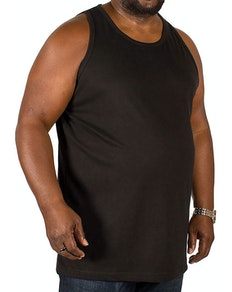 Bigdude Plain Vest Black Tall