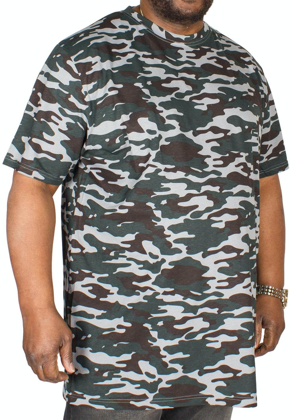 D555 Gaston Camouflage Print T-Shirt Grey