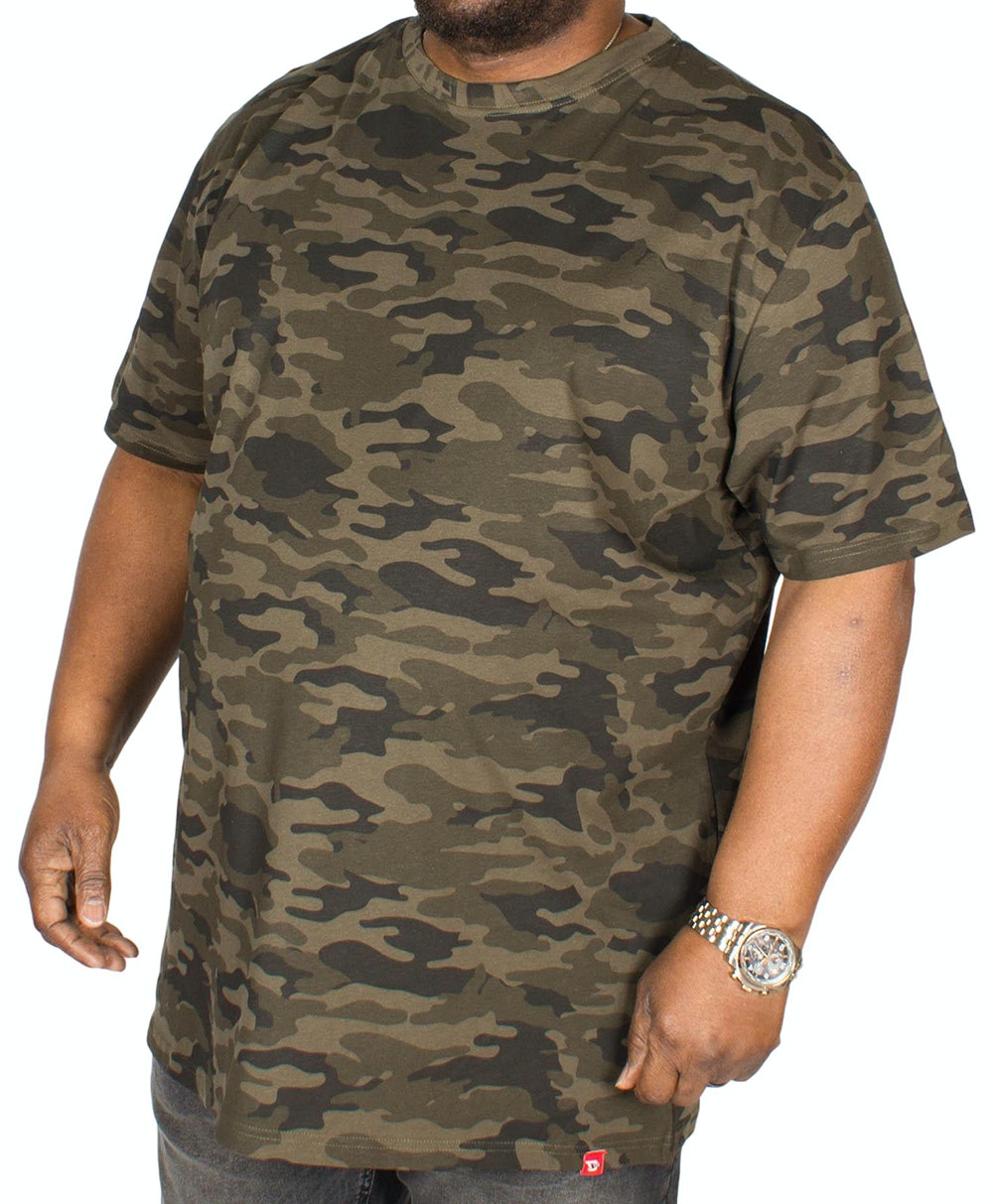 D555 Gaston Camouflage Print T-Shirt Green