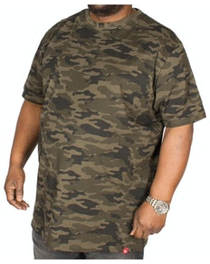 D555 Gaston Camouflage Print T-Shirt Green