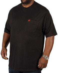 Bigdude Signature Pocket T-Shirt Black/Red