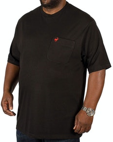 Bigdude Signature Pocket T-Shirt Black/Red Tall