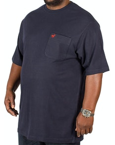 Bigdude Signature Pocket T-Shirt Navy/Red Tall