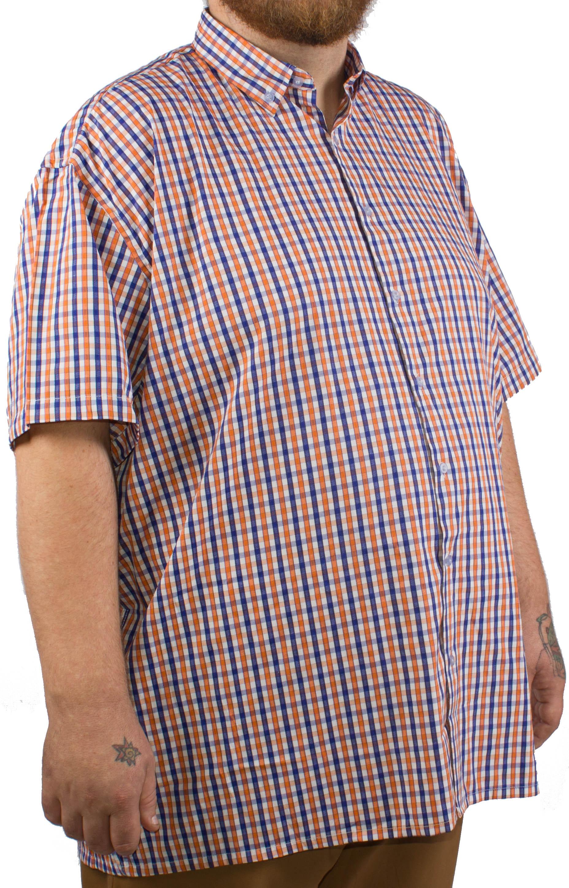 Fitzgerald Orange Short Sleeve Check Shirt