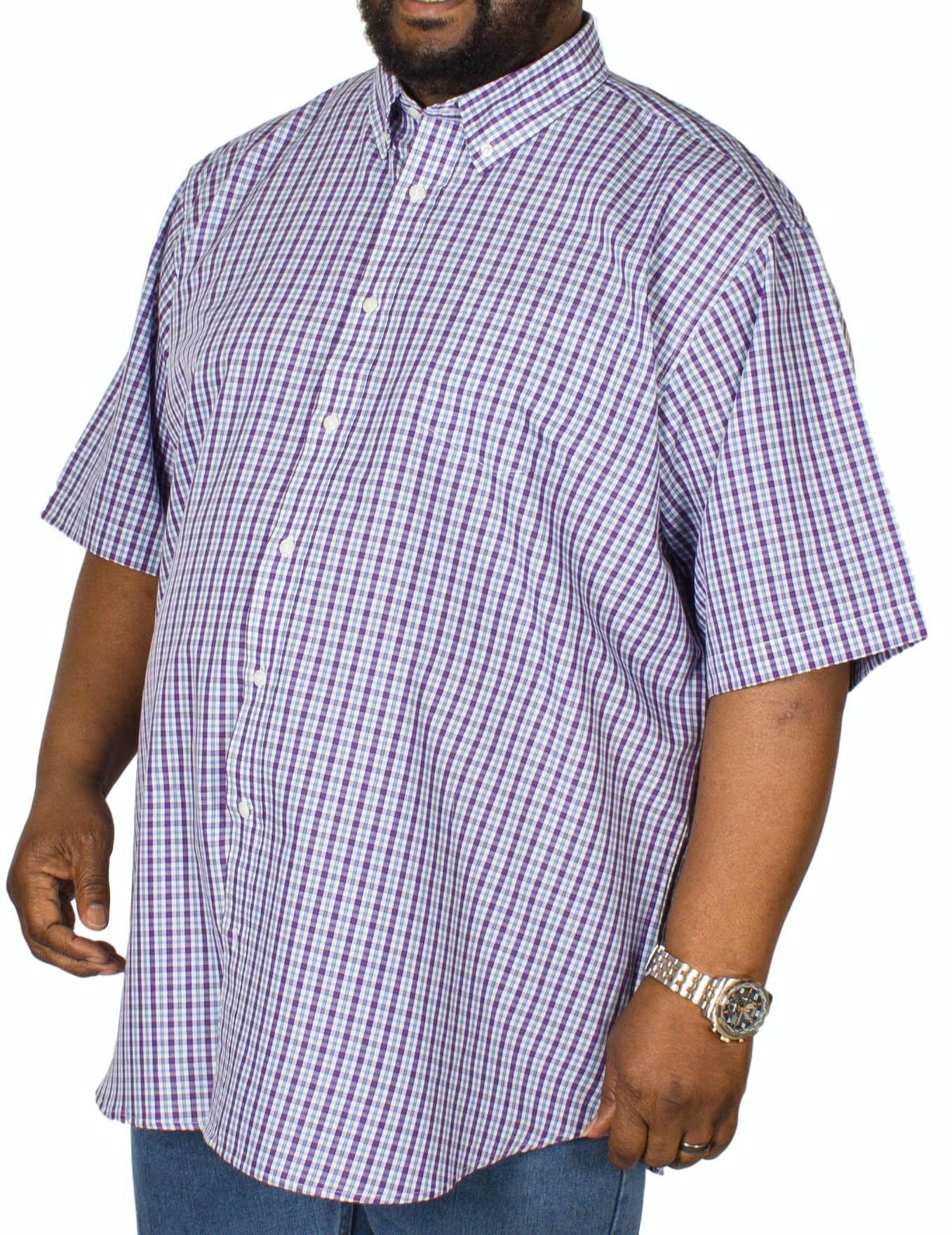 Carabou Check Short Sleeve Shirt Purple