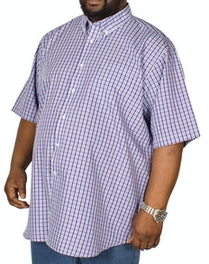 Carabou Check Short Sleeve Shirt Purple