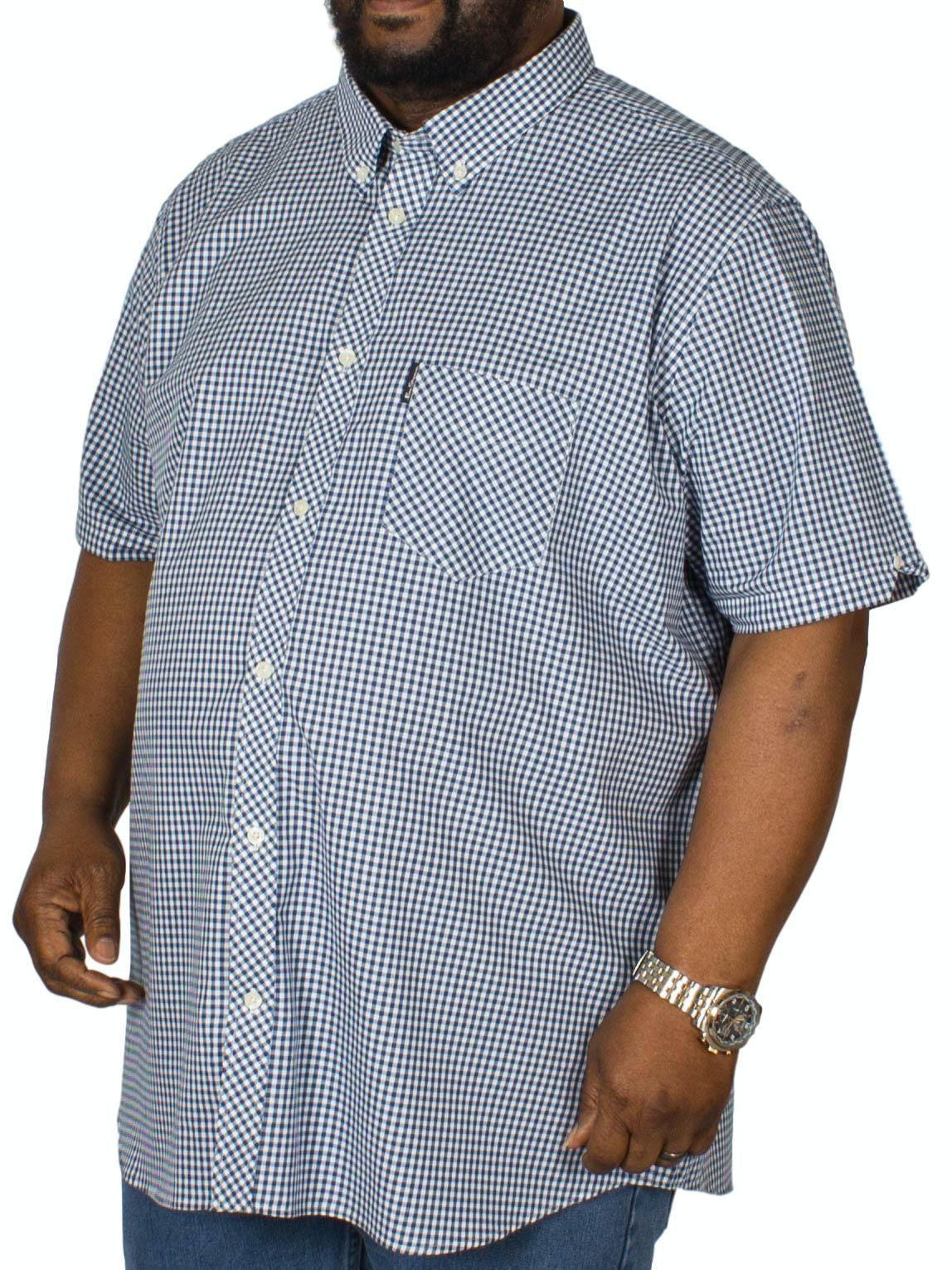 Ben Sherman Core Gingham Shirt Blue Denim