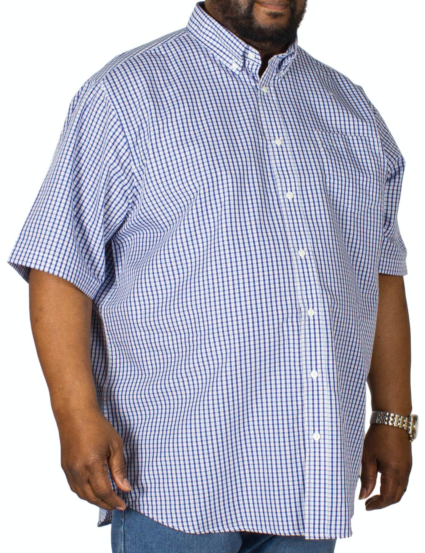 Carabou Check Short Sleeve Shirt Navy