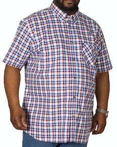 Ben Sherman Oxford Check Short Sleeve Shirt Wine