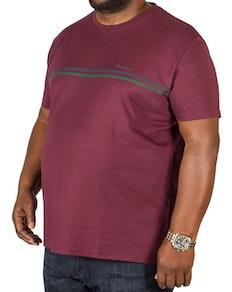 Ben Sherman Sport Tipped T-Shirt Burgundy