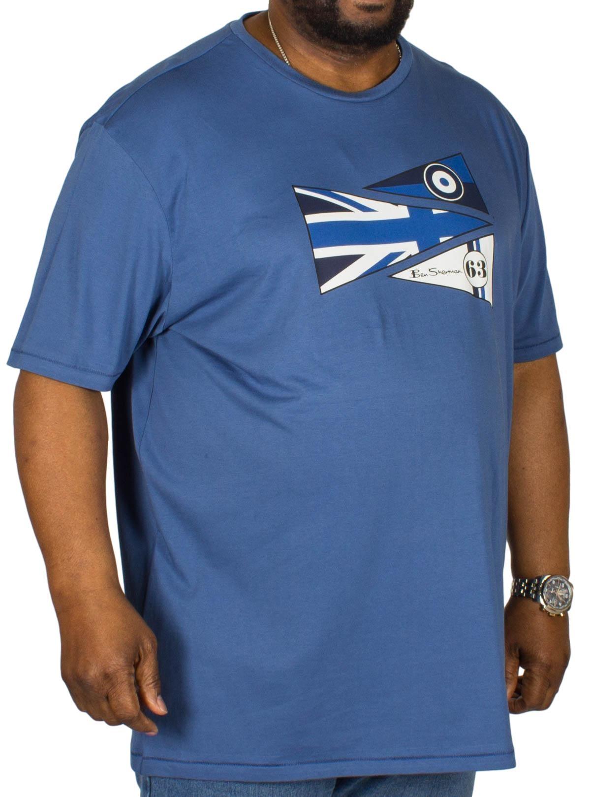 Ben Sherman Pennants T-Shirt Indigo
