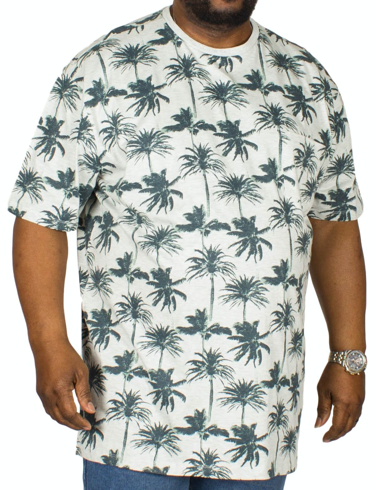 Espionage Palm Print T-Shirt Stone