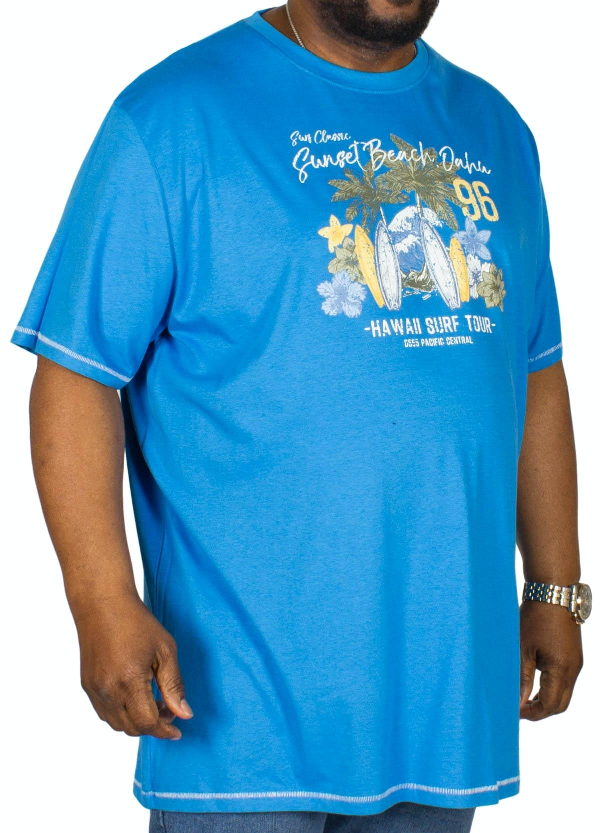 D555 Christian Printed T-Shirt Royal Blue