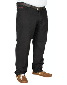 Duke Balfour Elasticated Waist Jeans Black