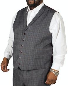Skopes Warley Check Waistcoat Grey/Blue