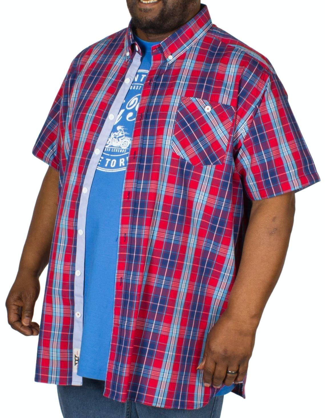 D555 Alabama Short Sleeve Shirt & T-Shirt Combo Red/Blue
