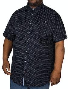 D555 Kurt Printed Short Sleeve Shirt Navy