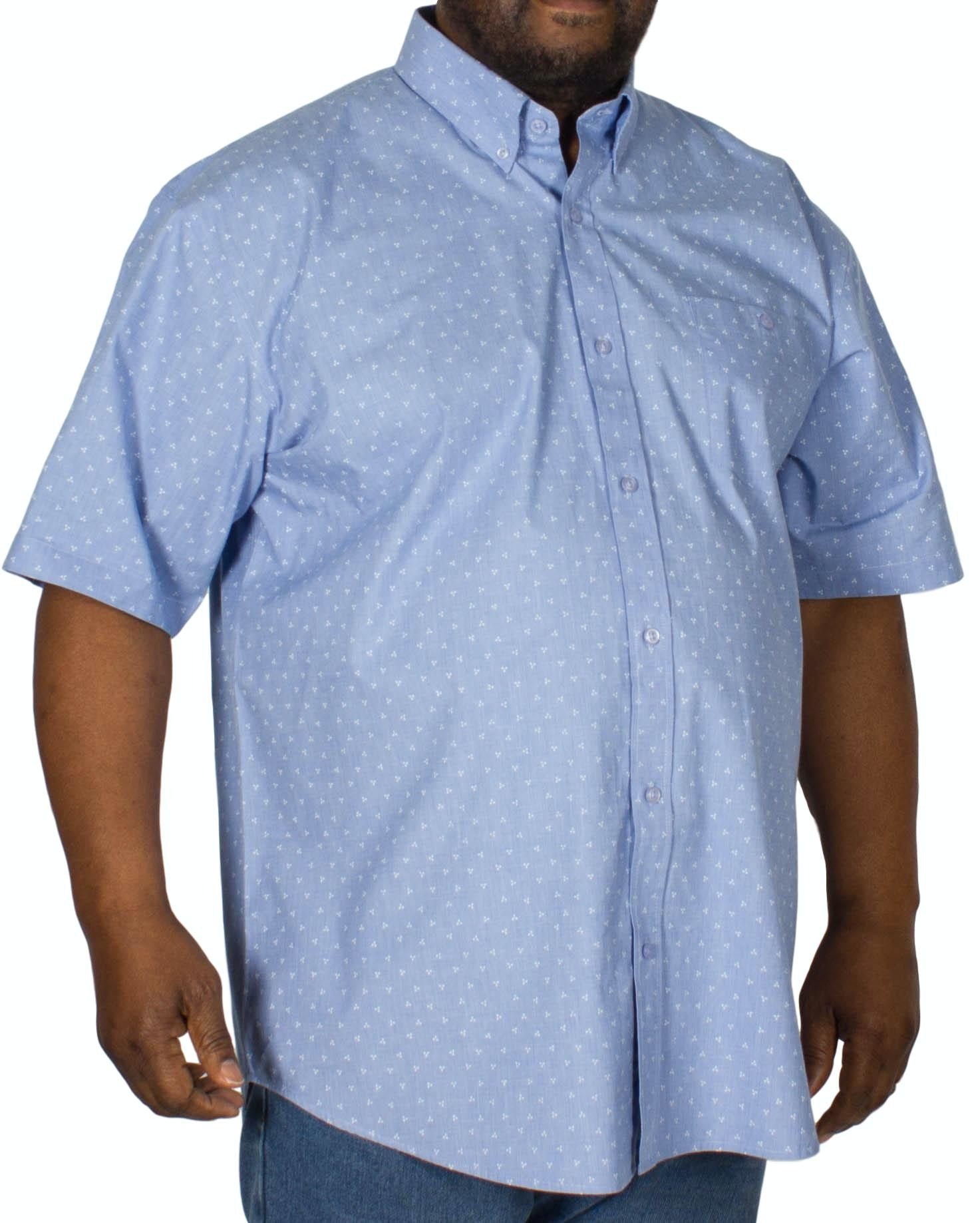 Espionage Dot Print Short Sleeve Shirt Blue