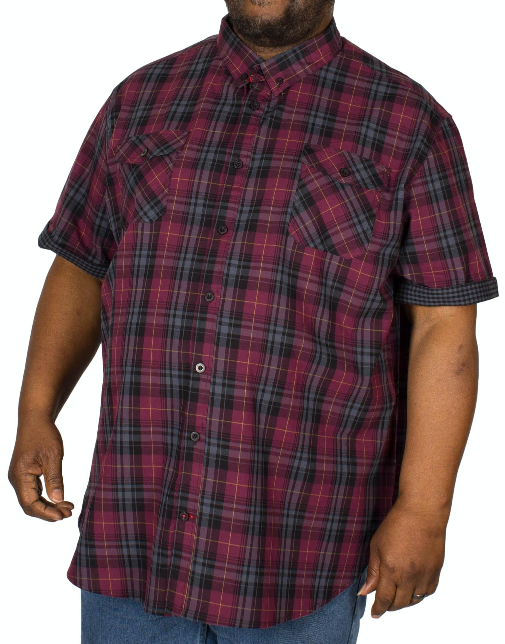 D555 Herbie Check Short Sleeve Shirt Plum
