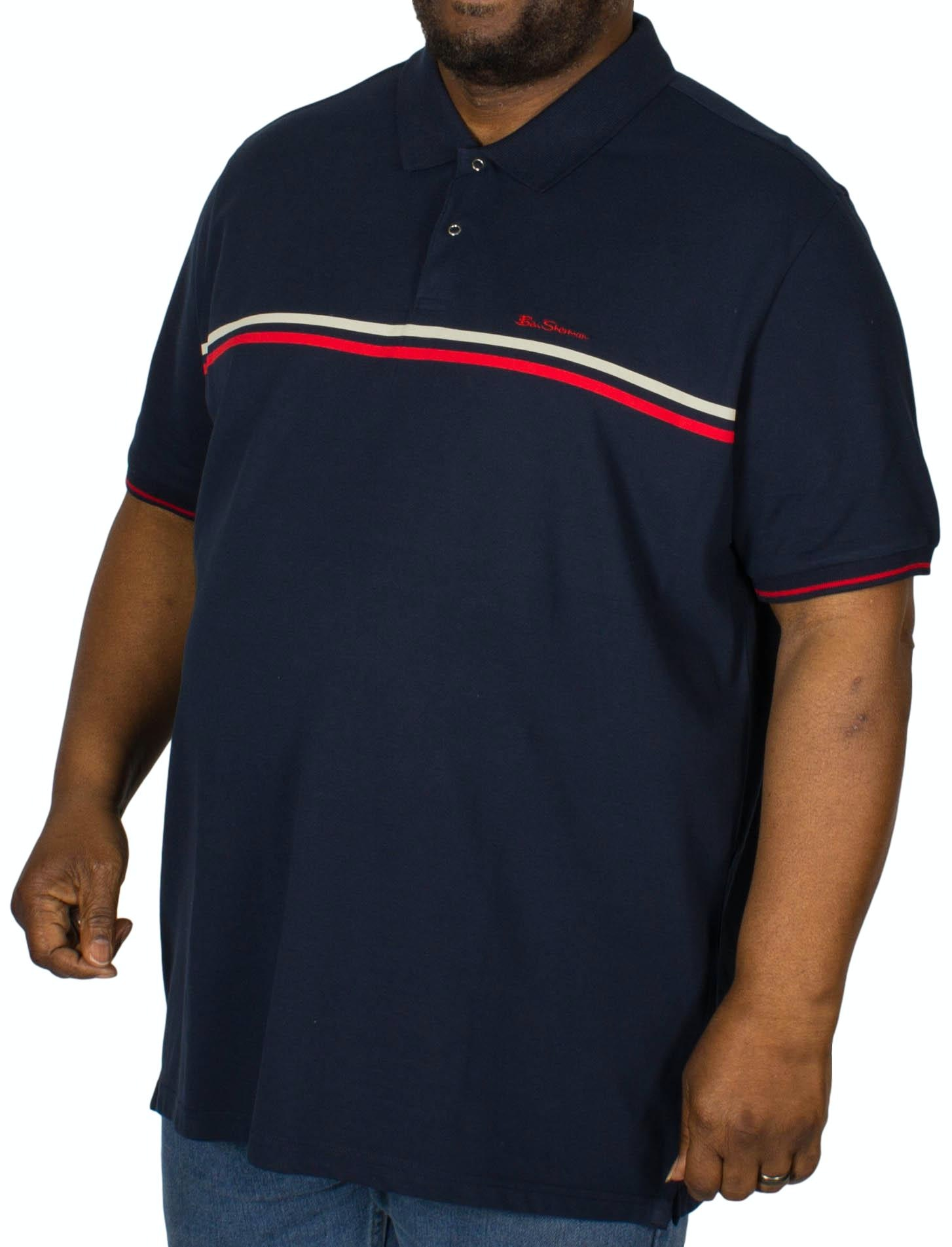 Ben Sherman Retro Sport Tipped Polo Shirt Navy