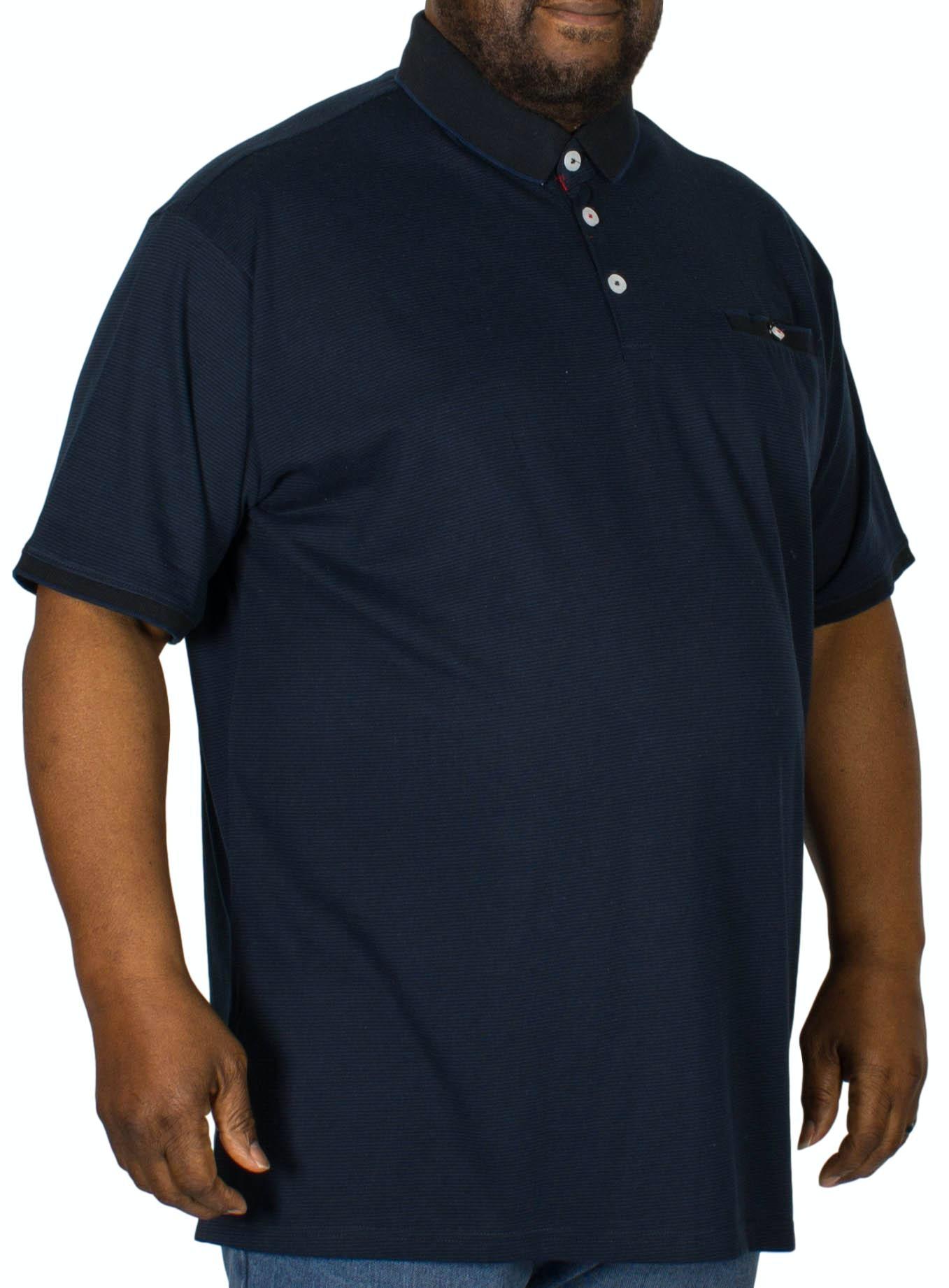 D555 Jerell Fine Stripe Polo Shirt Navy