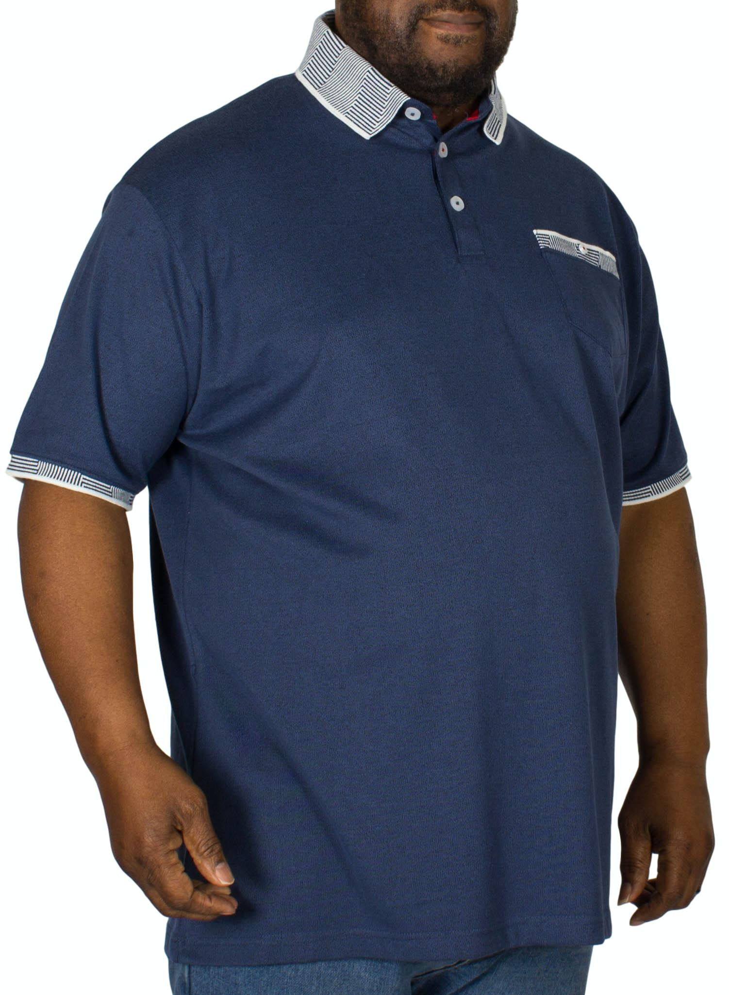 D555 George Jersey Polo Shirt Navy