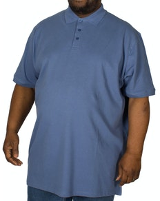 Cotton Valley Plain Polo Shirt Mid Blue