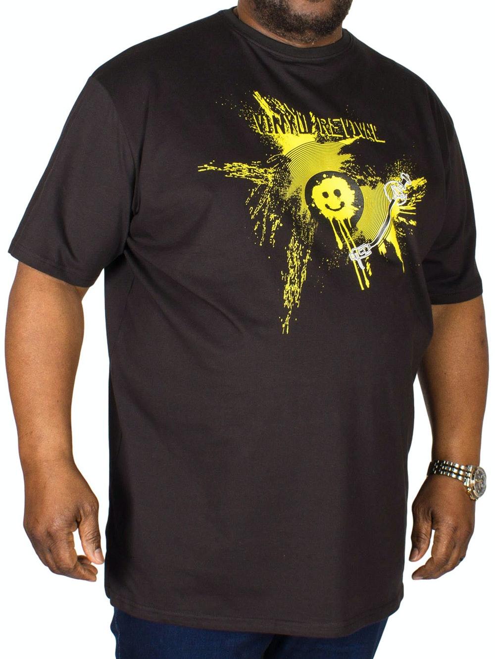 Metaphor Vinyl Revival Print T-Shirt Black