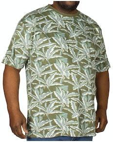 KAM Floral Print T-Shirt Khaki