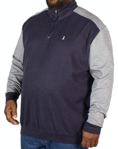 Replika Half Zip Sweatshirt Navy