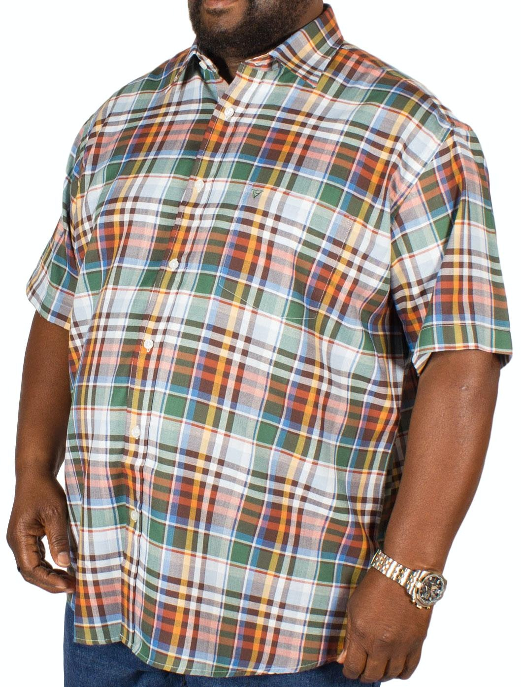 Cotton Valley Short Sleeve Moss Check Shirt