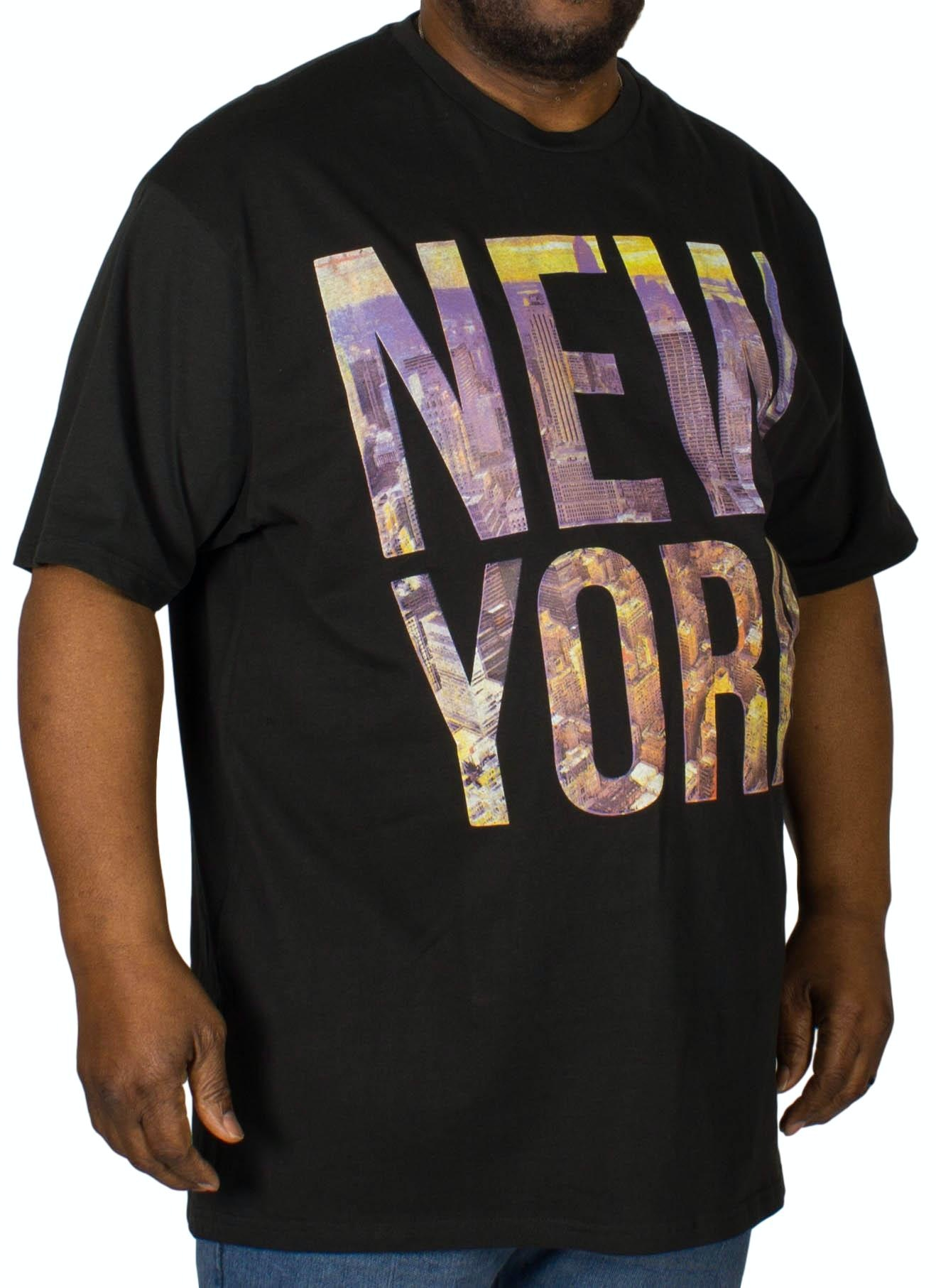 KAM New York Printed T-Shirt Black