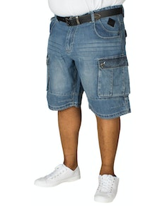 KAM Sebastian Denim Cargo Shorts Blue