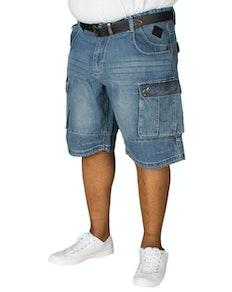 KAM Sebastian Denim Cargo Shorts Blue