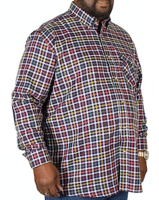 Cotton Valley Small Herringbone Print Check Shirt