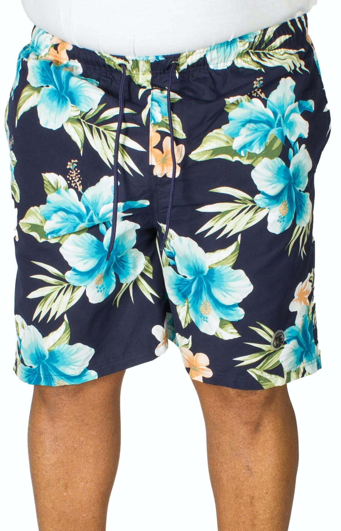 Espionage Floral Print Swim Shorts Navy
