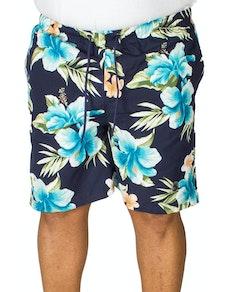 Espionage Floral Print Swim Shorts Navy