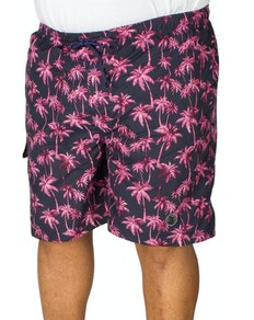 Espionage Palm Print Swim Short Navy