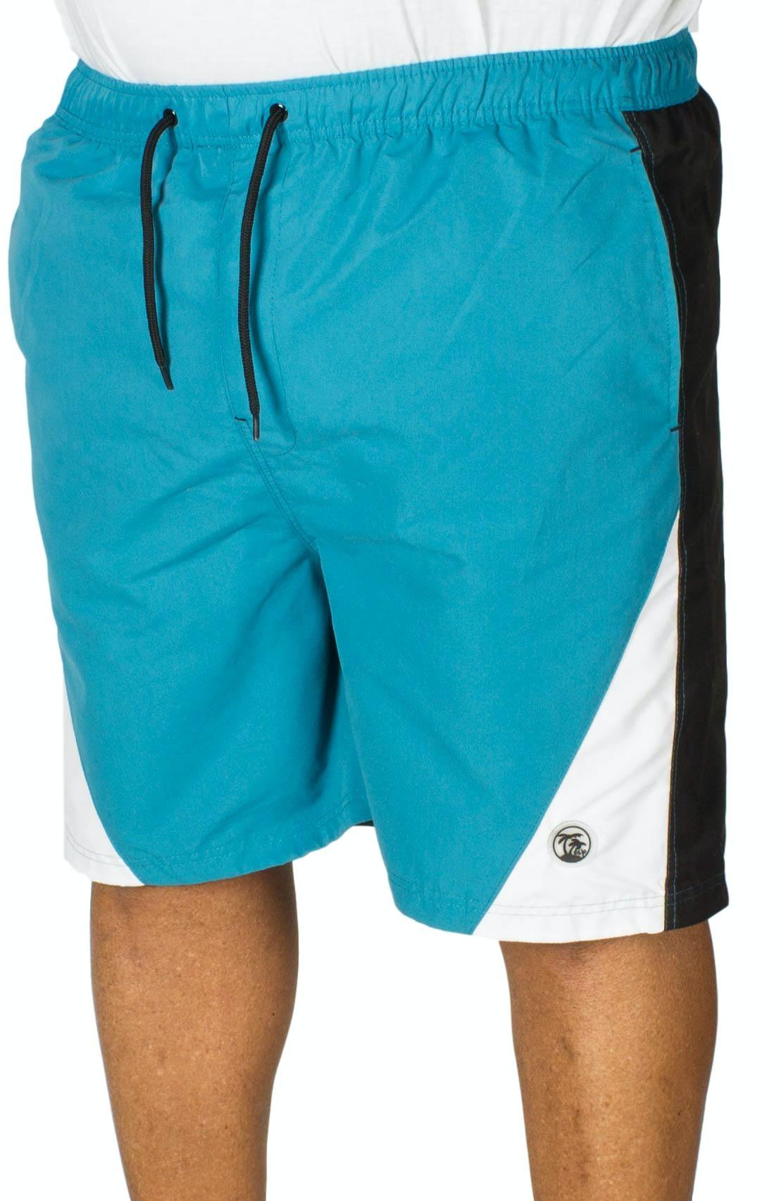 Espionage Cut And Sew Swim Shorts Teal/Black