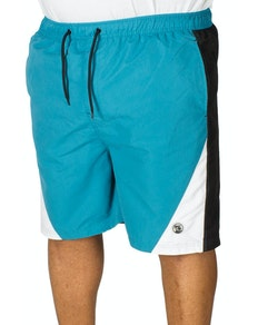 Espionage Cut And Sew Swim Shorts Teal/Black