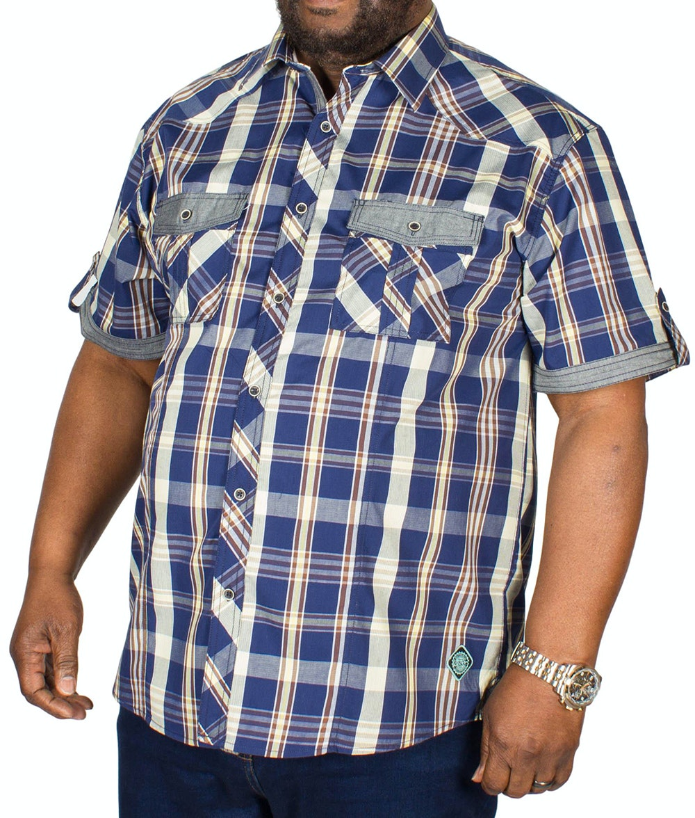 KAM Modern Check Shirt Safari