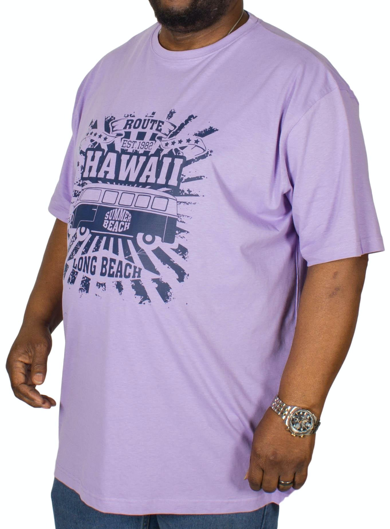 Espionage Hawaii Printed T-Shirt Lilac