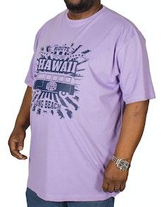 Espionage Hawaii Printed T-Shirt Lilac