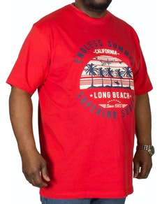 Espionage Endless Summer Printed T-Shirt Red